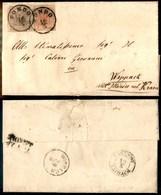 ANTICHI STATI - AUSTRIA TERRITORI ITALIANI - Fondo (P.ti 3) - 6 Kreuzer (4/I) + 3 Kreuzer (3/I) - Lettera Per Wippack -  - Timbres