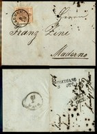 ANTICHI STATI - AUSTRIA TERRITORI ITALIANI - Salurn (P.ti 6) - 6 Kreuzer (4) Su Lettera Per Maderno Del 6.10.56 - Stamps