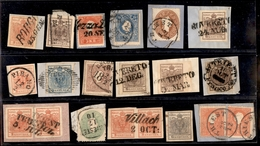 ANTICHI STATI - AUSTRIA TERRITORI ITALIANI - Lotticino Di 17 Diversi Con Annullamenti Dei Territori Italiani D'Austria - - Stamps