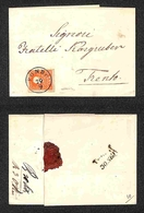 ANTICHI STATI - AUSTRIA TERRITORI ITALIANI - Fondo (P.ti 3) - 5 Kreuzer (14) Su Parte Di Lettera Per Trento - Timbres