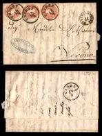 ANTICHI STATI - AUSTRIA TERRITORI ITALIANI - Distribuzione II Su Lettera Da Trieste A Verona Del 18.9.61 Con Tre 5 Kreuz - Timbres