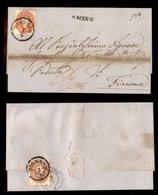 ANTICHI STATI - AUSTRIA TERRITORI ITALIANI - Dignano - 5 Kreuzer (19) + 10 Kreuzer (20) Fronte Retro Su Raccomandata Per - Stamps