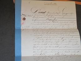 HOUFFALIZE- 1842-ECHANGE DE TERRES ENTRE MILICHE Jean Et HENKINET Jean Tous Deux Laboureurs - Historische Dokumente