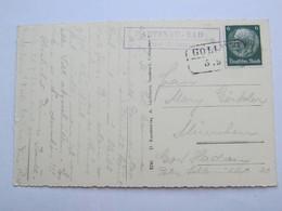 1938 , ABTENAU - BAD - Post Abtenau  , Klarer Stempel  Auf Karte - Briefe U. Dokumente