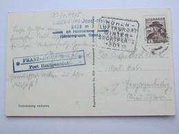 1935 ,  Franz Josef Haus  Post Heiligenblut  , Klarer Stempel  Auf Karte - Briefe U. Dokumente