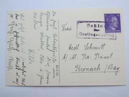 1942 , SAHLAU  über Gostingen  , Klarer Stempel  Auf Karte - Briefe U. Dokumente