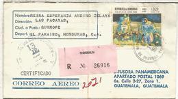 HONDURAS CC CERTIFICADA SELLOS HOMBRE EN LA LUNA MOONLANDING ESPACIO SPACE - América Del Sur