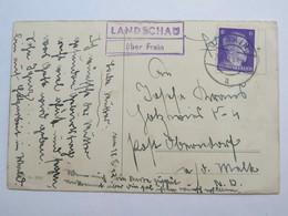 1942 , LANDSCHAU über Frain  , Klarer Stempel  Auf Karte - Briefe U. Dokumente