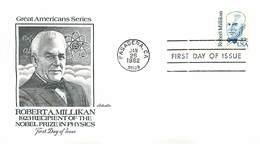 USA - FDC 1982 -  PASADENA - ROBERT  MILLIKAN  -  NOBEL  PRIZE - FDC