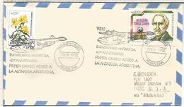 ARGENTINA 1992 ANTARTIDA ANTARCTIC  MAIL AVION PLANE BASE MARAMBIO - Vuelos Polares