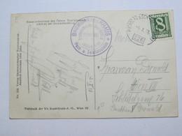1926 , Baumgartnerhaus Poststelle  , Klarer Stempel  Auf Karte - Briefe U. Dokumente