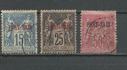 PORT-SAID Scott 7, 9, 12 Yvert 9, 11, 15 (3) O 27,50 $ 1899 - Port-Saïd (1899-1931)