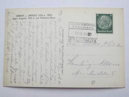1939 , Fernpass Nassereith  , Klarer Stempel  Auf Karte - Briefe U. Dokumente