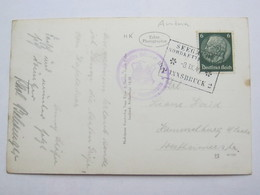 1940 , Nordkettenbahn Innsbruck  , Klarer Stempel  Auf Karte - Briefe U. Dokumente