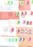 FRANCE MARCOPHILIE LIBERTE DE GANDON CARTON DE 12 Kgs - Stamps