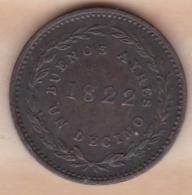 ARGENTINA / BUENOS AIRES. UN DECIMO 1822. KM# 1 - Argentina