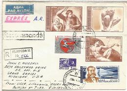 UNION SOVIETICA CC CERTIFICADA KLAIPEDA  SELLOS MIGUEL ANGEL MICHELLANGELO ARTE PINTURA ESCULTURA - Künste