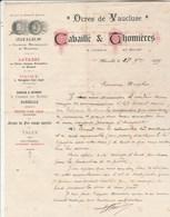 Lettre Illustrée 1889 CABAILLE & THOMIERES Ocres   Vaucluse Mines Gargas Roussillon Rustrel - MARSEILLE Bouches Du Rhône - 1800 – 1899