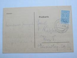 1923 ,  Wien - Kleingartenausstellung   , Klarer Sonderstempel Auf Sonder -Karte - Briefe U. Dokumente