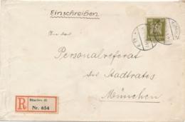 Deutsches Reich - 1924 - 40Pf Freimarke On R-cover Local Use München - Duitsland