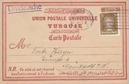 Deutsches Reich - 1927 - 3Pf Freimarke On Turkisch Postcard With Private Klickow Reklame Print On The Backside - Duitsland