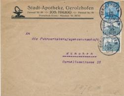 Deutsches Reich - 1933 - 2x 4Pf Schloss Wartburg + 4Pf Hindenburg On Commercial Cover Lokal München - Covers & Documents