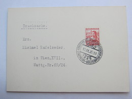 1935 , WIEN  - Zionistenkongress  , Klarer Sonderstempel Auf Karte, Judaika - Briefe U. Dokumente