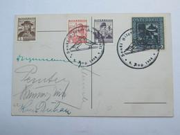 1936 , ST.GILGEN -  Hochzeitsfest  , Klarer Sonderstempel Auf Karte - Briefe U. Dokumente