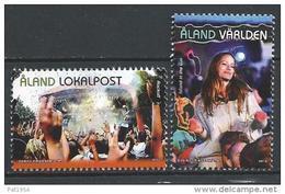 Aland 2013 N°379/380 Neufs  Festivals De Musique - Aland