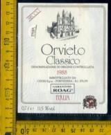 Etichetta Vino Liquore Orvieto Secco 1988 Cevin S.p.a. Pontedera - Etichette