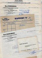 VP14.444 - OSTHEIM 1965 - Lot De Documents - Mr R. DALHLMANN Construction De Chemins Forestiers à Mr LEBRUN à STRASBOURG - Agriculture