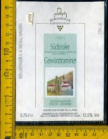 Etichetta Vino Liquore  Sudtiroler Gewurztraminer 1991  BZ - Altri