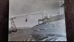 CPSM TELEBENNE DU MONT D OR 1420 M GARE DU SOMMET RESTAURANT DOUBS ?  PHOTO STAINACRE 1959 - France