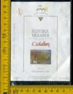 Etichetta Vino Liquore  Sudtiroler Kuchelberq 1995 Meraner BZ - Altri