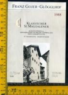 Etichetta Vino Liquore Klassischer  1988 S. Magdalena BZ - Altri