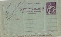 236 DA 1fr Champlain Pneumatique - Cartes Postales Types Et TSC (avant 1995)