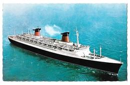 Paquebot FRANCE Le Havre Postée En Mer En 1965 Pour La Moselle - Paquebots