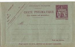 237 DA 1,50fr Champlain Pneumatique - Cartes Postales Types Et TSC (avant 1995)