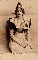 SEXY / PIN-UP : CLÉO DE MÉRODE - CARTE VRAIE PHOTO PRÉCURSEUR / FORERUNNER - ANNÉE / YEAR ~ 1900 (aa401) - Artisti