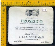 Etichetta Vino Liquore Prosecco Frizzante V. Sceriman Vo Euganeo PD - Altri