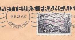 LETTRE . DE PARIS.. POUR CASABLANCA..MAROC..  N°1041.seul Sur Lettre.. A.F.N.... MAI1957.. TBE... - Marcophilie (Lettres)