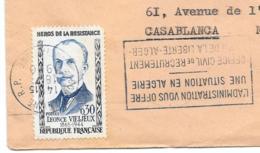 LETTRE . DE CONSTANTINE A CASABLANCA...N° 1251.seul Sur Lettre.. TBE SCAN - Marcophilie (Lettres)