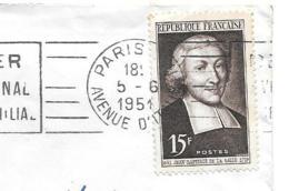 LETTRE .    PARIS XIII  A MERIGNAC. N°882  ..SEUL SUR LETTRE..TBE.. - Marcophilie (Lettres)