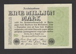 1 Mio Mark 1923 Ro 101b WZ Ringe Fz. BD UNC - [ 3] 1918-1933 : Repubblica  Di Weimar