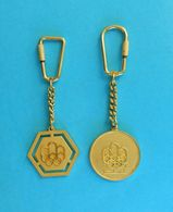 OLYMPIC GAMES MONTREAL 1976. - Nice Lot Of 2. Yugoslav Vintage Keychains * Olympiad Olympia Olympiade Olimpische Spiele - Jeux Olympiques