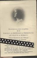 Faire Part  De Déces- De Me  Comtesse J De Barrigue De Fontainieu Née Colette De Berghes - Obituary Notices