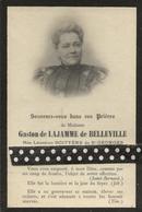 Faire Part  De Déces- De Me Gaston De Lajamme De Belleville Née Leontine  Boityerede St Georges - Obituary Notices