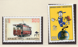 1995 - BOSNIA ERZEGOVINA - Mi.  Nr. 25+27 - NH - (UP121.23) - Bosnia Erzegovina