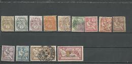 LEVANT Scott 21-28, 30, 34-36, 21a Yvert 9-16, 18, 17, 20, 21, 9a (13) O Et * (#yvert 20 Perforé OIB)18,00 $ 1902-3 - Levant (1885-1946)