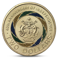 SOLOMON ISLANDS 2 DOLLARS 40th ANNIVERSARY OF INDEPENDENCE COLOR UNC 2018 - Solomon Islands